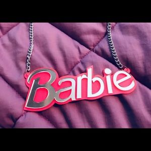New Mirror Barbie Plate Necklace
